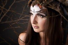 женский портрет viking Стоковые Изображения RF