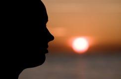 женский профиль Стоковая Фотография RF