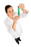 женский работник лаборатории Стоковая Фотография