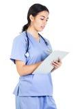 Женский работник медицинского соревнования стоковая фотография rf