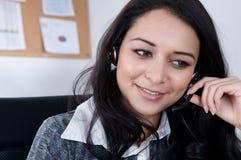 женский работник телефона Стоковое Изображение RF