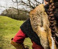Женский ратник Викинга Стоковые Фотографии RF
