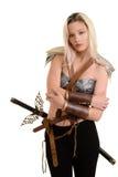 Женский ратник обнимая Стоковые Изображения
