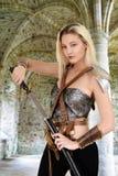 Женский ратник с каменным сводом Стоковое фото RF