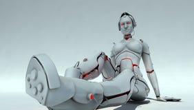 женский робот Стоковое Изображение