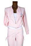женский розовый tracksuit стоковая фотография rf