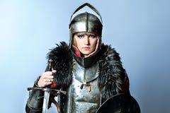 женский рыцарь стоковое изображение rf