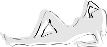 женский силуэт Стоковые Фото