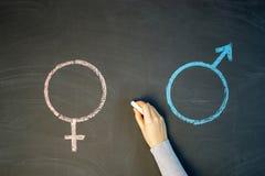 Женский символ рода равн к мужской концепции рода Стоковые Фотографии RF