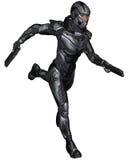 Женский солдат научной фантастики - бегущ Стоковое фото RF