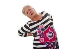 Женский старший с backache Стоковое фото RF