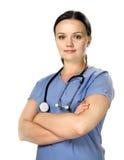 женский стетоскоп нюни Стоковые Изображения RF