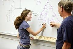 женский студент технический Стоковая Фотография RF