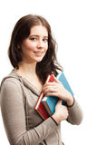 Женский студент с книгами Стоковое Изображение