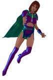 Женский супергерой иллюстрация вектора