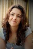 женский счастливый подросток Стоковое Изображение