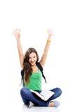 женский счастливый студент Стоковое Изображение