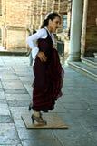 Женский танцор 4 фламенко Стоковая Фотография RF