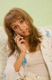 женский телефон Стоковая Фотография