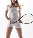 женский теннис игрока Стоковое Изображение