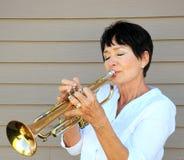 Женский трубач Стоковое Изображение RF