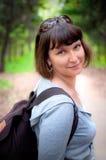 женский турист стоковые фотографии rf