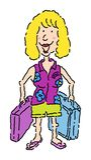 женский турист Стоковое Изображение RF