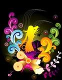 женский флористический вектор Стоковые Фото