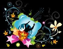женский флористический вектор Стоковое Фото