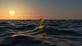 Женский фотограф фотографируя на заходе солнца в расстоянии Стоковые Изображения