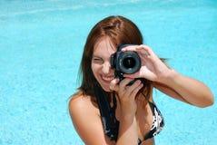 женский фотограф Стоковое Фото