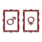 женский флористический символ мужчины иллюстрации Стоковое Изображение