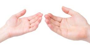 женский человек s руки Стоковые Фото