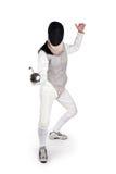 женский fencer стоковые фотографии rf