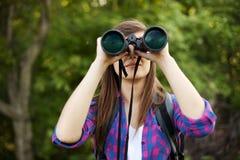 Женский hiker стоковое изображение