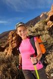 женский hiking hiker Стоковые Фотографии RF