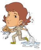Женский janitor Стоковые Изображения RF