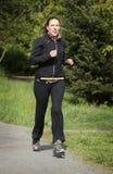 Женский jogger Стоковая Фотография