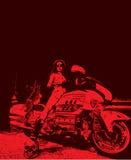 Женский pic вектора motorbiker