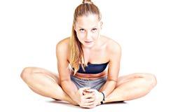 женский streching Стоковое Изображение RF