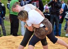 Женский wrestling Стоковое Фото