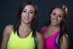 2 женских близнеца Стоковая Фотография