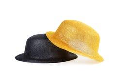 2 женских изолированной шляпы для masquerade Стоковое Фото
