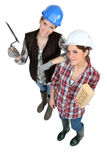 2 женских каменщика Стоковые Фотографии RF