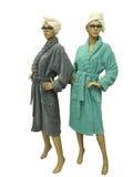 2 женских манекена нося купальный халат Стоковые Изображения
