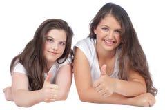 2 женских подруги Стоковые Изображения
