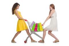 2 женских друз во время Стоковое Изображение