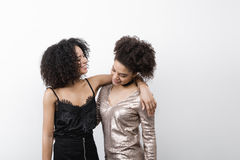 2 женских друз имеют потеху Стоковая Фотография RF