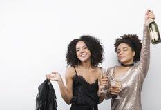 2 женских друз имея полезного время работы Стоковое фото RF