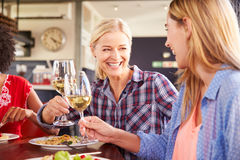 2 женских друз на ресторане Стоковое Изображение RF